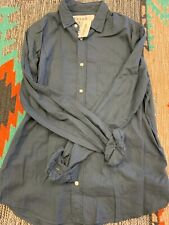 Frank & Eileen Luke Classic Cotton Button Down, Navy, NWT, Multiple Sizes