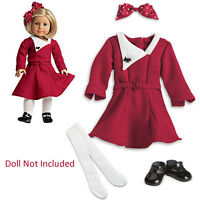 """American Girl KIT'S HOLIDAY OUTFIT for 18"""" Dolls Christmas Dress Kit Ruthie NEW"""