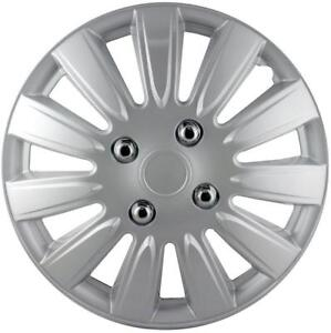 """QUALITY 14"""" GEARX WHEEL COVERS SILVER CRYOPHIS STYLE SET OF 4"""