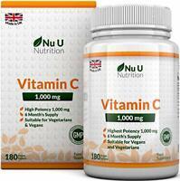 Vitamin C 1000 mg | vitamine C | Cure de 6 Mois/180 comprimés | Compléments alim