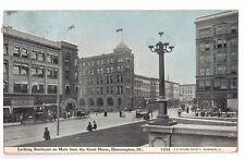 Illinois postcard Bloomington Main Street busy street scene ca 1912