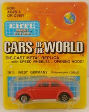 Ertl Cars of the World Volkswagen 1200LS Red/Raw VW Beetle Bug MOC 1/64 Scale