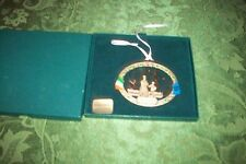 "Old Christmas Ornament ""Solid Brass 24K Gold Plated"" W/Original Box"