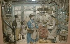 More details for anton pieck the grocer 3d picture – helen o'connor porcelain style **free p&p**