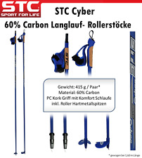 60% Carbon Langlaufstock Skistöcke Skating Rollski Stöcke Skike 155-175 cm