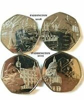 2019 Paddington Bear 2 x 50p coins. St Paul's Cathedral + Tower of London.