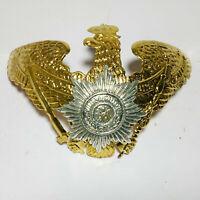 German Pickelhaube Brass Prussia Field Badge Wappen Badge Prussian Helmet