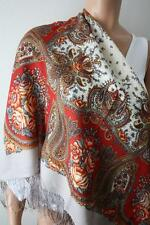 Pawlow(Pavlov) Posad russischer Schal-Tuch Folklore Tradition 89x89 Wolle 1549-4