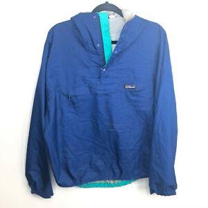 Patagonia Windbreaker Jacket Men's Size M Blue Vtg 90s Made in USA Anorak