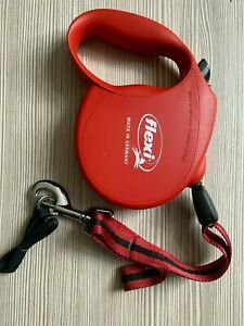 Flexi Retractable CORD Dog Lead RED SMALL DOG  New Classic  Design  UP TO 12KG
