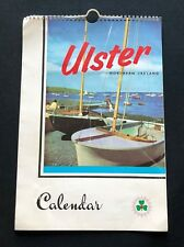 Vintage Retro 1960 Ulster Northern Ireland Calendar