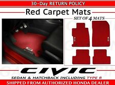 Genuine OEM Honda Civic 4dr 5dr Red Carpet Floor Mat Set      (08P15-TGG-110A)