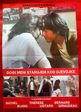 COME TO MY HOUSE I LIVE WITH GIRLFRIEND 1981 FRENCH P.LECONTE EXYU MOVIE POSTER