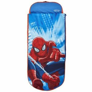 Spider-Man Inflatable Bed - Inflatable Kids Air Bed and Sleeping Bag 2 in 1