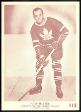 1940-41 1941 OPC O PEE CHEE hockey V301-2 113 Gus Marker ex+ Toronto Maple Leafs