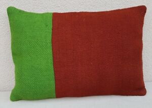 Green and red color decorative couch pillows, 14'' X 20'' Vintage Turkish Pillow