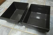 Vintage Refrigerator Drawers - Set of Two