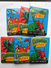 Lot of 6 Dinosaurs Attack! Wax Packs 5 cards per Pack 1988 Mint