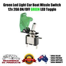 GREEN LED LIGHT MISSILE SWITCH (MISSILE COVER + 12V ON/OFF LED TOGGLE)