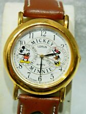 MICKEY &MINNIE MOUSE  DOUBLE DIAL WATCH/COLLECTABLE /LORUS