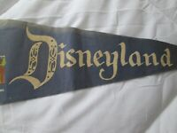 RARE VINTAGE EARLY 1960s DISNEYLAND FELT 23 INCH FULL SIZED PENNANT WITH CASTLE