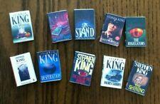 Dollhouse Miniatures! Set #6 of 10 Stephen King Books! Readable!