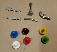 Clue Board Game 6 Tokens & 5 Weapons Replacement Pawn Movers 1972-1998 1972 set