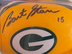 Bart Starr autographed mini helmet