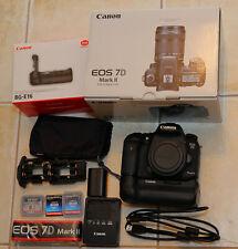 Canon EOS 7D Mark II shutter count 12229  BG-E16 Grip,3 CF Cards,Charger,Battery