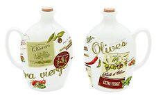 EasyLife 750ml Porcelain Olive Oil Design Bottle with Cork Stopper - Boxed