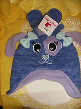 #7 Rugged Bear BABY Size 2T-4T Month Cap & Mittens Purple Lilac Blue NEW REG $20