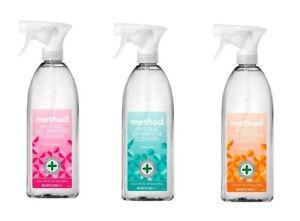 (828ml) Method Antibacterial All Purpose Cleaner Spray Wild Rhubarb,Orange Yuzu