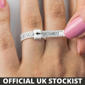 UK Ring finger sizer measure gauge all British UK sizes A - Z+2 - Free Postage