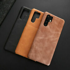Genuine Leather Skin Back Hard Case Cover For Huawei P30 / Pro +Screen Protecter