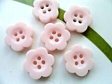 40pcs Resin Buttons Daisy Flower Pink 4  Holes Sewing Children Kids 16mm