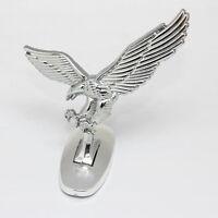 1Stk Universal 3D Adler Auto Flügel Front Cover Metall Hauben-Mütze Embleme I6P7