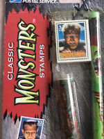 Vintage The Wolf Man Classiic Universal Monsters USPS Pen Pencil set  Halloween!