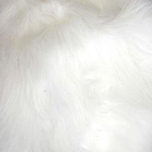 "Luxury LONG Hair PILE White Fun Faux Fur Fabric 60"" 150cm wide Furry Christmas"