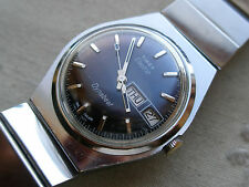 STUNNING LARGEST VINTAGE 1968 TIMEX  ELECTRIC  DYNABEAT,CHROME/SS, NEEDS HELP.