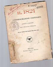 il 1821 commemorazione centenaria di alfredo comandini con 23 illustrazioni