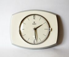 Vintage Pop Art style 1970s Ceramic Kitchen Wall clock JUNGHANS Made in Germany
