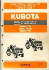 Kubota Tracteur b1550d b1550hst-d b1750d & b1750hst-d manuel de pièces