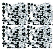 MIRROR  Hot Fix Nailheads BLACK  Iron on  3mm 1gr