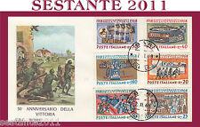 ITALIA FDC ROMA 50° ANNIVERSARIO DELLA VITTORIA 1968  ANNULLO  BARI G180