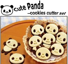 Set of 4 Cute Panda Kawaii Animal Cookie Cutter DIY Kitchen Cooking Cake Mold