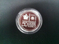 2002 RAM 50c Queen Elizabeth Accession Silver Proof Coin in Capsule Only