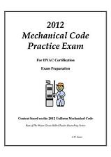 2012 Uniform Mechanical Code Practice Exam on USB Flash Drive