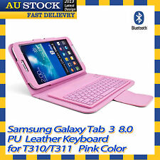 Bluetooth Wireless Keyboard Case Cover For Samsung GALAXY Tab 3 8.0 T310 T311