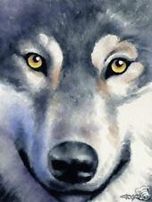 Wolf Wolves Watercolor 8 x 10 Art Print by Artist Djr