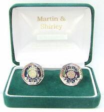 1994 20 PENIQUES gemelos desde monedas reales en la plata & Azul